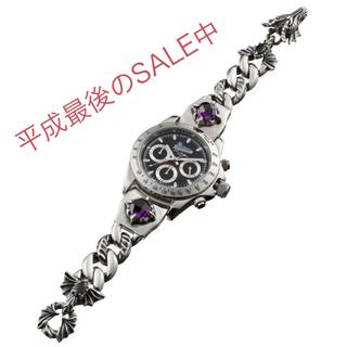 アルテミスクラシック(Artemis Classic)のプレミアム/ダークドラゴンシルバーブレスウォッチ ACクロノグラフ(腕時計(アナログ))