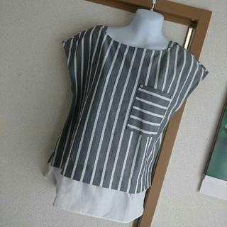 アウィーエフ(AuieF)の未使用❗裾レイヤードカットソー❤(カットソー(半袖/袖なし))