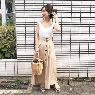 who's who Chico - リネンロングスカート♡美品マキシスカート