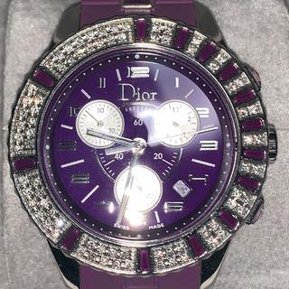 クリスチャンディオール(Christian Dior)のDIOR Crystal ダイヤモンドベゼル 正規品 希少 (腕時計(アナログ))
