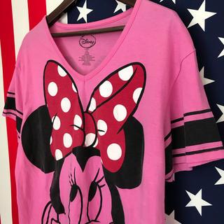 ディズニー(Disney)のUSA古着 ミニー Tシャツ ジュニアL(Tシャツ(半袖/袖なし))