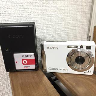 ソニー(SONY)のソニー デジタルカメラ DSC-W80  サイバーショット7.2メガピクセル 白(コンパクトデジタルカメラ)