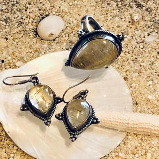 ルチルクォーツの天然石シルバーリング(リング(指輪))