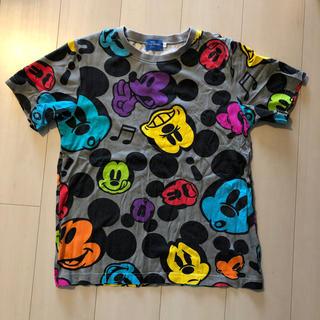ディズニー(Disney)のディズニー ミッキー カラフルTシャツ S グレー(Tシャツ(半袖/袖なし))