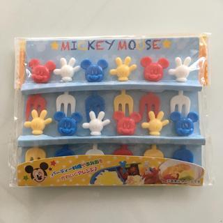 ディズニー(Disney)の新品☆mickeyフォークピック(弁当用品)