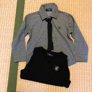 7cc2b096a60fb コムサイズム(COMME CA ISM)の100cmサイズ 長袖ポロシャツ(ネクタイ付き)と