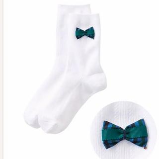 ファミリア(familiar)のファミリア 青チェック 靴下(靴下/タイツ)
