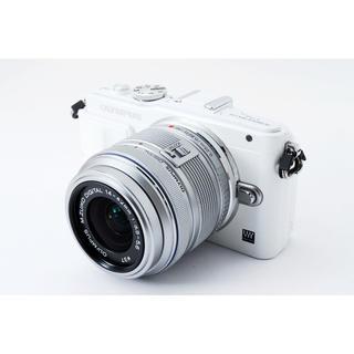 オリンパス(OLYMPUS)の☆Wi-Fi & 自撮り☆オリンパス E-PL6 ホワイト レンズキット(ミラーレス一眼)