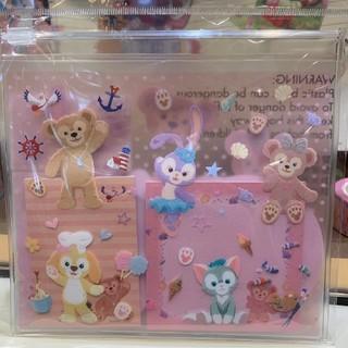 ディズニー(Disney)の香港ディズニー限定 ダッフィーフレンズ メモセット(キャラクターグッズ)