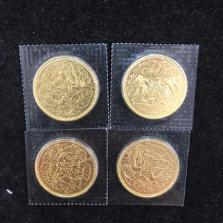 天皇御在位60年記念金貨 4枚(貨幣)