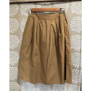 ムジルシリョウヒン(MUJI (無印良品))の無印良品 オーガニックコットンイージーギャザースカート ベージュ(ひざ丈スカート)