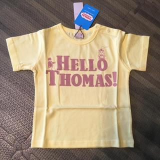 プティマイン(petit main)の新品 プティマイン トーマスTシャツ イエロー 90cm(Tシャツ/カットソー)