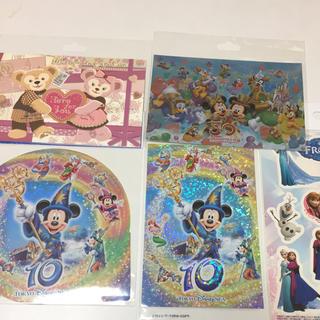 ディズニー(Disney)のディズニーポストカード シール おまけ付き(キャラクターグッズ)