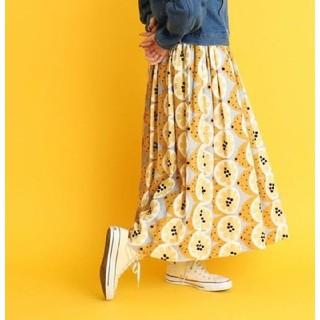 プープレ(peu pres)のシトラスプリント スカート(ロングスカート)