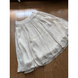 エフデ(ef-de)のエフデ ふんわり スカート アイボリー 7号 S(ひざ丈スカート)