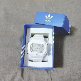 アディダス(adidas)のadidas(アディダス)デジタル腕時計white(腕時計)