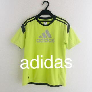 アディダス(adidas)の USED★adidas★サッカーウェア★160★イエロー(ウェア)