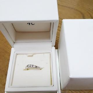 ヨンドシー(4℃)の未使用 4℃プラチナ950リング 指輪(リング(指輪))
