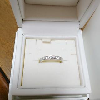 ヨンドシー(4℃)の未使用 4℃ プラチナ950ハーフエタニティリング 指輪(リング(指輪))