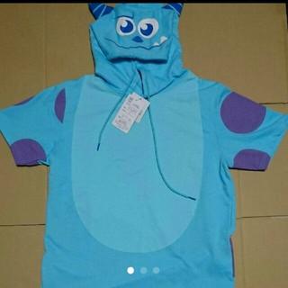 ディズニー(Disney)のモンスターズ・インク サリー フード付き半袖Tシャツ  メンズ M  ディズニー(Tシャツ/カットソー(半袖/袖なし))