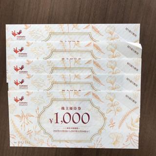 コシダカ 株主優待券  まねきねこ 5000円分(その他)