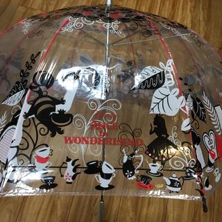 ディズニー(Disney)のディズニー アリス 大人用ビニール傘 新品未使用(傘)