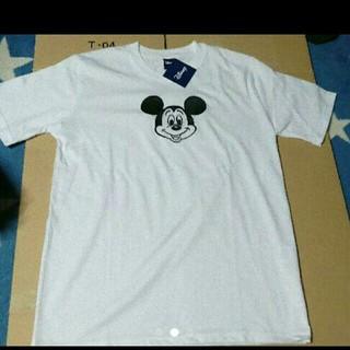ディズニー(Disney)のミッキーマウス 刺繍半袖Tシャツ カラー ホワイト サイズ M(Tシャツ/カットソー(半袖/袖なし))