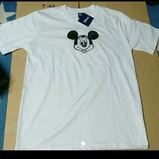 ディズニー(Disney)のミッキーマウス 刺繍半袖Tシャツ カラー ホワイト サイズ L(Tシャツ/カットソー(半袖/袖なし))