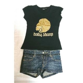 ベイビーシュープ(baby shoop)のbaby shoop♥黒Tシャツ×デニムショートパンツ《セット販売》(セット/コーデ)