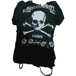 セクシーダイナマイト(SEXY DYNAMITE)のSexy Dynamite London ダメージ加工Tシャツ(Tシャツ(半袖/袖なし))