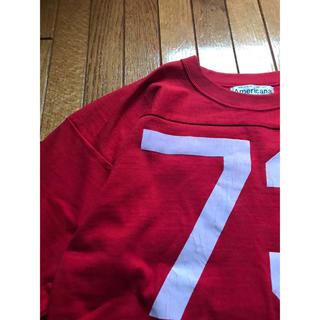DEUXIEME CLASSE - アメリカーナ レッド ナンバーTシャツ サンプル品