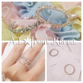 ★新品★キラキラシンプルリング(リング(指輪))