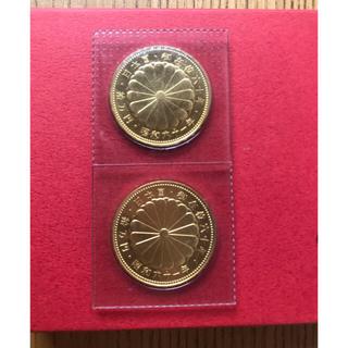 昭和天皇御在位60年記念 10万円金貨2枚(貨幣)