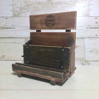 レバーボックス・リモコンスタンド 木製ボックス(インテリア雑貨)