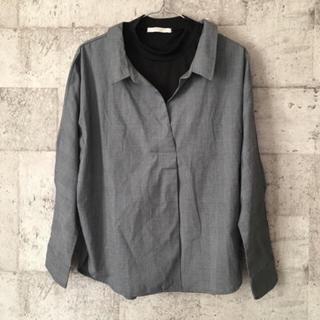 ショコラフィネローブ(chocol raffine robe)のchocol raffine robe ニットドッキングトップス(シャツ/ブラウス(長袖/七分))
