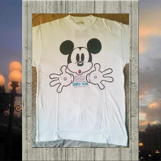 ディズニー(Disney)のディズニー ミッキー Tシャツ(白/半袖)(Tシャツ/カットソー(半袖/袖なし))