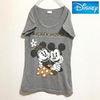 ディズニー(Disney)の【Disney】ディズニー レディース Tシャツ グレー(M)(Tシャツ(半袖/袖なし))