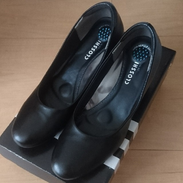 しまむら(シマムラ)の26cm大きいサイズしまむら黒フォーマル レディースの靴/シューズ(ハイヒール/パンプス)の商品写真