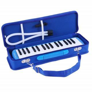 鍵盤ハーモニカ 32鍵 ピアノスタイル(ブルー)