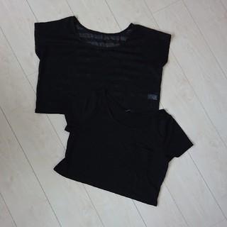 ジーユー(GU)のショート丈半袖Tシャツ Mサイズ 2枚セット(Tシャツ(半袖/袖なし))