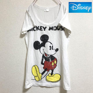 ディズニー(Disney)の【Disney】ディズニー  ミッキー Tシャツ (M)(Tシャツ(半袖/袖なし))