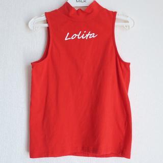 リルリリー(lilLilly)のlillilly リルリリー LOLITA ハイネック ノースリーブ タンク(Tシャツ(半袖/袖なし))
