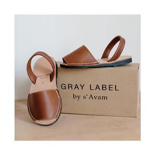 GRAY LABELグレーレーベル サンダル ブラウン 14.4cm(サンダル)