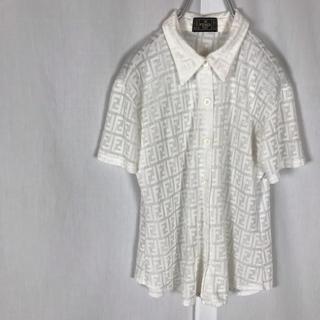 フェンディ(FENDI)の専用 FENDI フェンディ ズッカ柄 ニット ポロシャツ イタリア製 M相当(ポロシャツ)