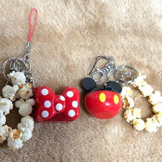 ディズニー(Disney)の☆Disney  ミッキーミニーストラップキーホルダー☆(ストラップ/イヤホンジャック)