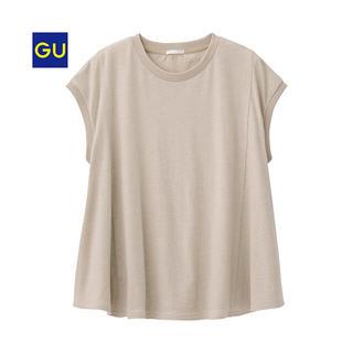 ジーユー(GU)のGU ジーユー完売 フレアーTシャツ ベージュ S 掲載品 店舗限定(Tシャツ(半袖/袖なし))