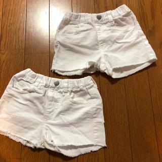 スキップランド(Skip Land)の白のショートパンツ(パンツ/スパッツ)