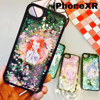 ディズニー(Disney)のiPhoneXR グリッターケース アリエル ディズニー スマホ ラプンツェル(iPhoneケース)