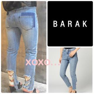 バラク(Barak)の新品 BARAK ヘムダメージストレート デニムパンツ(デニム/ジーンズ)