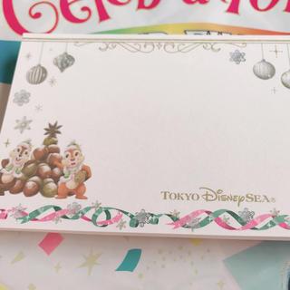 ディズニー(Disney)の【ディズニーシー限定】クリスマスウィッシュ メモ(キャラクターグッズ)